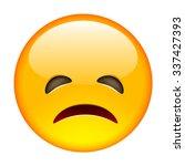 grumpy emoticon. isolated... | Shutterstock .eps vector #337427393