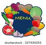 vegetables  meat vector... | Shutterstock .eps vector #337434353