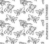 goldfish. vector seamless... | Shutterstock .eps vector #337444883