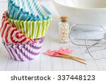 cupcake liner and cases | Shutterstock . vector #337448123
