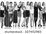 fashion collage. group of... | Shutterstock . vector #337452983