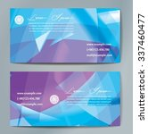 stylish business cards with... | Shutterstock .eps vector #337460477