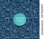 seamless pattern with modern... | Shutterstock .eps vector #337463447