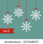 christmas paper card with... | Shutterstock .eps vector #337468037