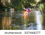 people boating on small river... | Shutterstock . vector #337468277