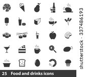 food icons set | Shutterstock .eps vector #337486193