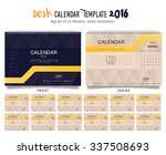 desk calendar 2016 vector... | Shutterstock .eps vector #337508693