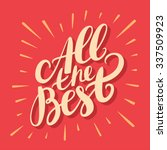 all the best. greeting card.   Shutterstock .eps vector #337509923