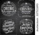 set of christmas emblems  ... | Shutterstock .eps vector #337521893