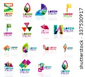 geometric shapes company logo... | Shutterstock .eps vector #337530917