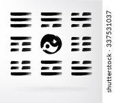 yin yang vector set of icons.... | Shutterstock .eps vector #337531037