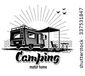 camping. recreation with family.... | Shutterstock .eps vector #337531847