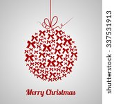 beautiful bow christmas... | Shutterstock .eps vector #337531913