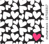 vector romantic hearts seamless ... | Shutterstock .eps vector #337533317