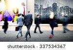 business people walking... | Shutterstock . vector #337534367