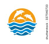 dolphin care  save dolphin ... | Shutterstock .eps vector #337540733