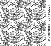 elegant seamless pattern with... | Shutterstock . vector #337542227