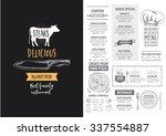 vector restaurant brochure ... | Shutterstock .eps vector #337554887