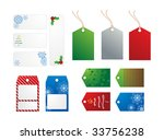 christmas and winter holiday... | Shutterstock . vector #33756238