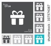 gift box icon   vector ... | Shutterstock .eps vector #337574387