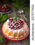 Cranberry Cake Decorated With...