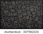 chalkboard vector hand drawn... | Shutterstock .eps vector #337582223