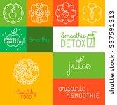 vector set of icons  design... | Shutterstock .eps vector #337591313
