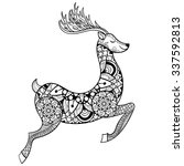 Zentangle Vector Reindeer For...