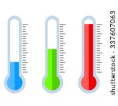 thermometers set vector... | Shutterstock .eps vector #337607063