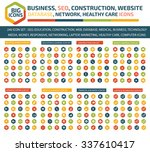 big icon set business  seo... | Shutterstock .eps vector #337610417