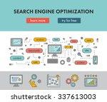 line design concept web banner...   Shutterstock .eps vector #337613003
