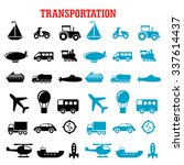 flat transportation icons set... | Shutterstock .eps vector #337614437