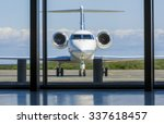 private corporate jet airplane... | Shutterstock . vector #337618457