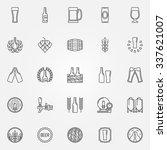 beer icons set   vector line...   Shutterstock .eps vector #337621007