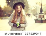 sunny lifestyle portrait of... | Shutterstock . vector #337629047