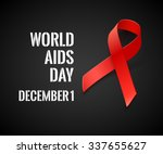 world aids day   vector black... | Shutterstock .eps vector #337655627