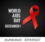 world aids day   vector black... | Shutterstock .eps vector #337655627