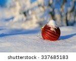Christmas Red Balls On A...
