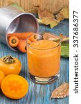 glass of vegetarian smoothie of ... | Shutterstock . vector #337686377
