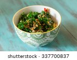 superfood salad with raw kale ... | Shutterstock . vector #337700837