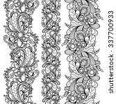 vector set seamless pattern... | Shutterstock .eps vector #337700933