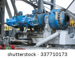 a drilling machine in a gas... | Shutterstock . vector #337710173