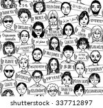seamless pattern of a group of... | Shutterstock .eps vector #337712897