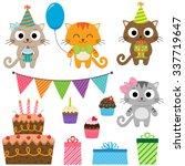 set of vector birthday party... | Shutterstock .eps vector #337719647