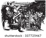 an hand drawn vector... | Shutterstock .eps vector #337725467