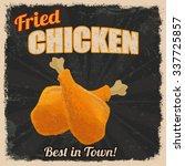 fried chicken retro poster in... | Shutterstock .eps vector #337725857