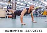 handsome man doing hard... | Shutterstock . vector #337726853