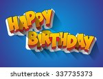 happy birthday greeting card on ... | Shutterstock .eps vector #337735373
