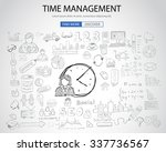 time management concept with... | Shutterstock . vector #337736567