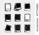 set of 9 hand drawn sketchy... | Shutterstock .eps vector #337744883